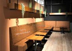 Restaurant-horecabanken-op-maat-model-mondiaal-hoge-rugleuning-cognac-kleur-bekleding Conference Room, Restaurant, Table, Model, Furniture, Lifestyle, Home Decor, Twist Restaurant, Homemade Home Decor