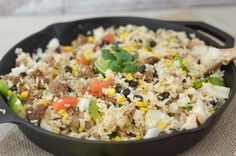 Mexican Rice Casserole Recipe Main Dishes with ground beef, taco seasoning…