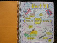 Unit cover page - I do this for each new unit: 5 words/phrases, 5 visuals, 5 colors (5-5-5)