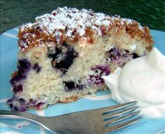Tons of Blueberry Coffee Cake - Add 1 tsp vanilla  Double recipe for a 9 x 13 Check after 40 minutes if using a springform pan. Cover with foil when it is browned to your liking so it doesn't burn