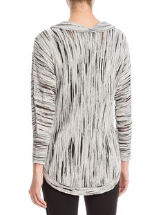 COWLED KNIT TOP