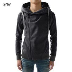 Fashion Men Hoodies Casual Oblique Zipper Brand Hoodie Mens Hooded Jackets