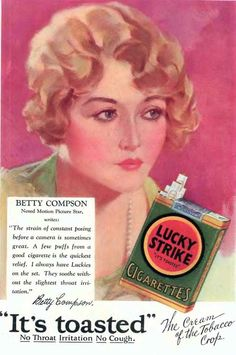 """Lucky Strike - """"It's toasted"""""""