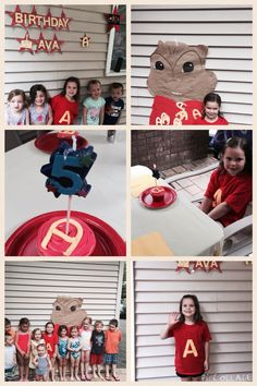 Ava's Alvin and the Chipmunks birthday party
