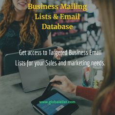 We are a global sales and data intelligence Company maintaining Million Business Contacts worldwide. Our Business Mailing List can be used to generate sales and marketing by reaching your target markets.