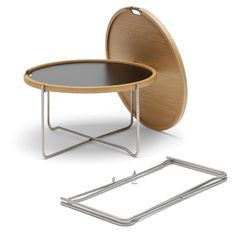 Shop SUITE NY for the CH417 Tray Table by Hans J. Wegner for Carl Hansen and Son and more iconic midcentury modern collapsible side tables and folding tables.