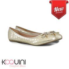 Clássica sapatilha #matelasse em soft dourado com preço especial R$79,90 #koquini #comfortshoes #euquero Compre Online: http://koqu.in/2bDN6DC