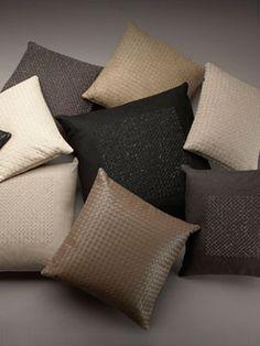 Random subtle colored pillows