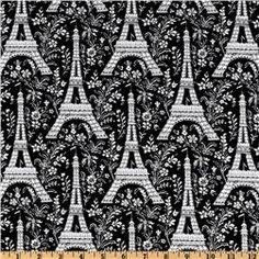 eiffel tower fabric prints - $9.99 per yard