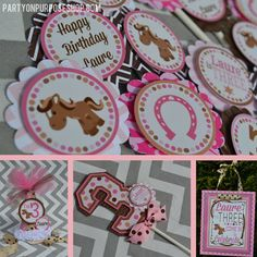 Cowgirl Birthday Party Decorations Package by PartyOnPurposeShop, $102.50