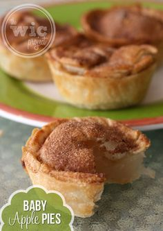 Baby Apple Pies - I very much like the idea of a personal-sized apple pie. They are very easy to make, however, the Lucky Leaf apple pie filling did not impress me. If you need something quick, it tastes ok (how could flaky crust, apple, cinnamon and sugar taste otherwise), but nothing canned can compete with a homemade fresh apple pie filling.