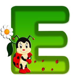 Hi Gif, Ladybug Picnic, Letter E, Alphabet Letters, Scrapbook, Writing Paper, Teaching Tools, Wood Crafts, Handmade