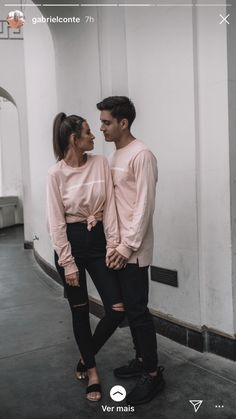 His & Hers Fashion Outfits Stylish Couple - Sesempatmu Saja Couple Photoshoot Poses, Couple Photography Poses, Couple Posing, Couples Assortis, Cute Couples Goals, Romantic Couples, Goofy Couples, Couple Goals, Matching Couple Outfits