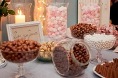 Something Slightly Pink: lokakuuta 2012 Candy Table, Candy Buffet, Dessert Table, Lolly Buffet, Sweet Jars, Candy Bar Wedding, Reception Food, Autumn Wedding, Love Is Sweet