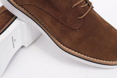 miMaO Blucher Insta Cuero–zapato  mujer plano cómodo marrón piel ante - Comfort women's flat derby oxford shoes browb suede leather
