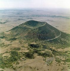 Capulin Volcano Road, New Mexico.    Drove to the top and then hiked into the bowl.