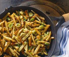 Rezept: Kartoffelpfanne mit Lauchzwiebeln