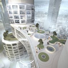 Velo Towers  by Asymptote.                                                                              #architecture