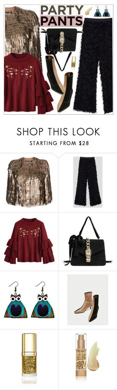 """#PolyPresents: Fancy Pants"" by teoecar ❤ liked on Polyvore featuring Salvatore Ferragamo, Dolce&Gabbana, Jane Iredale, vintage, contestentry and polyPresents"