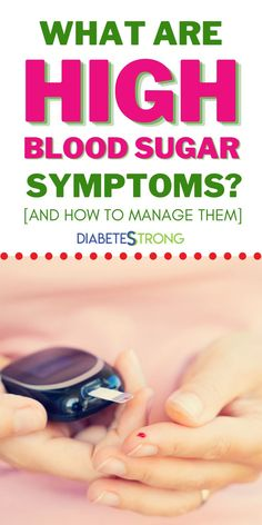 What are high blood sugar symptoms (hyperglycemia)? Compared to low blood sugars, high blood sugars are much more difficult to spot. They have the potential to cause much more long-term damage throughout your entire body.  Let's take a closer look at the causes and symptoms of high blood sugar levels. #highbloodsugar #bloodsugar #bloodsugarmanagement #type1diabetes #type2diabetes #diabetes #diabetesstrong #diabetescare