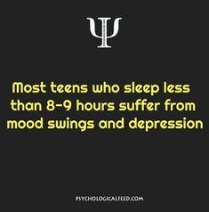 As a teen who gets 3 hours every night, I second this!