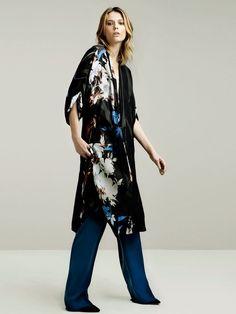 Zara Flower Printed Silk Dress