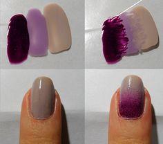 Purple Ombre Nail Design | Sole Tutorials