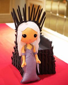 Felt doll centerpiece from a Game of Thrones Birthday Party on Kara's Party Ideas | KarasPartyIdeas.com (9)