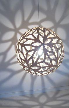 Floral Pendant - Ø 40 cm - White - Web exclusivity
