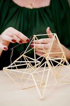 Salmiakkihimmeli   Meillä kotona Conceptual Model Architecture, Architecture Design, Pavilion Design, Deco Nature, Geometric Necklace, Action Poses, Light Installation, Geometric Art, Weaving