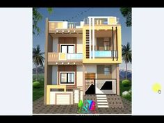 2 Story House Design, Modern Small House Design, Village House Design, Village Houses, Front Elevation Designs, 2 Story Houses, Home D, Architecture, 2 Storey House Design