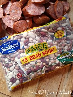 Much like Red Beans & Rice but made with a 15 Bean mix and andouille ...