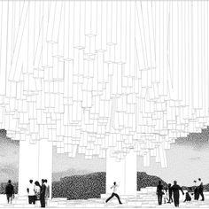 B&W Collage Rendering Paper Architecture, Architecture Graphics, Architecture Visualization, Architecture Drawings, Gothic Architecture, Architecture Design, Architecture Diagrams, Architecture Portfolio, Presentation Techniques