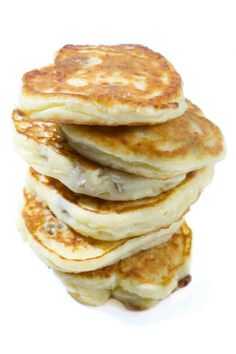 Tangy, tender Russian pancakes called syrniki are made with tvorog (a type of quark).