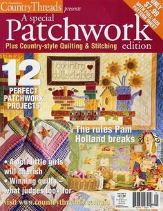 Patchwork - Yolanda J - Picasa Web Album Fabric Crafts, Paper Crafts, Sewing Magazines, Patch Aplique, Applique Fabric, Book Quilt, Quilt Stitching, Patch Quilt, Book Crafts