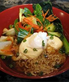 Ramen noodles aren't just for college students. Though they can be high in sodium, added vegetables, greens and lean proteins can transform them into a light, healthy snack or meal.