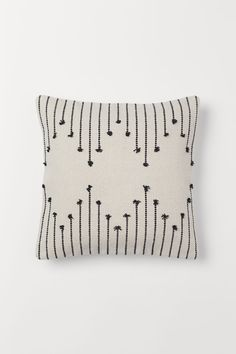 Pudebetræk i bomuld - Lys beige/Mønstret - Home All Cushion Cover Designs, Cushion Covers, Pillow Covers, Diy Pillows, Decorative Pillows, Throw Pillows, Hand Embroidery, Embroidery Designs, H&m Home