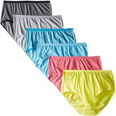 Fruit of the Loom Women's 6 Pack Beyond Soft Brief Panties