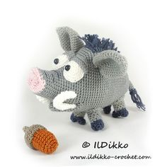 Wilbur The Wild Boar Amigurumi Pattern