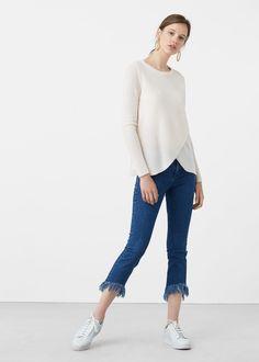 Skinny jeans in 7/8-länge fringed -  Damen | MANGO Deutschland