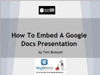 How To Use Google Docs Presentation  http://blackboxsocialmedia.com
