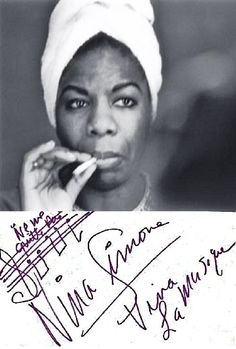 """Life is short. People are not easy to know. They're not easy to know, so if you don't tell them how you feel, you're not going to get anywhere, I feel."" - Nina Simone"