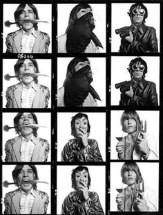 The Rolling Stones  Pictured is the Rolling Stones Contact Sheet, 1968, photographed by David Bailey, one of the best British photographers to date.