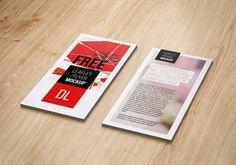 Free DL Flyer Mockup #free #psd #photoshop