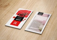 Free DL Flyer Mockup #free #psd #photoshop
