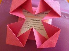 partecipazioni nozze origami