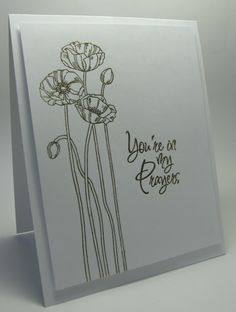 stamping up north: Less is More....gold sympathy cards