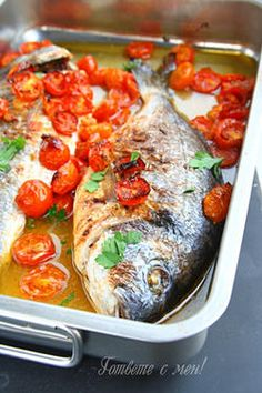 Риба с домати на фурна (pesce all acqua pazza)
