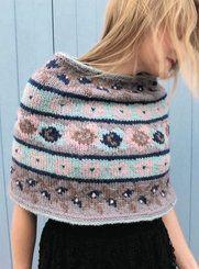Erika Knight Vintage Fair Isle Short Poncho Knitting Pattern PDF