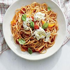 Linguine with Sweet Pepper Sauce | Cooking Light